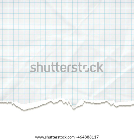 Background texture of crumpled and torn paper. Vector illustration.