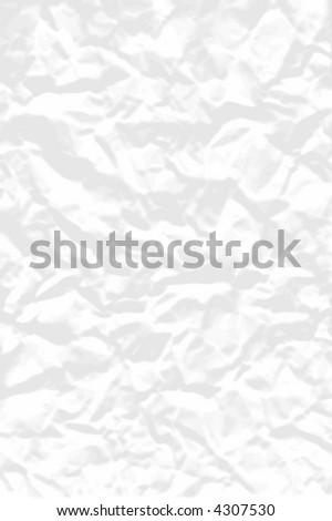 Background vector illustration of crumpled white paper