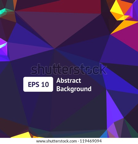 Background Vector. Night