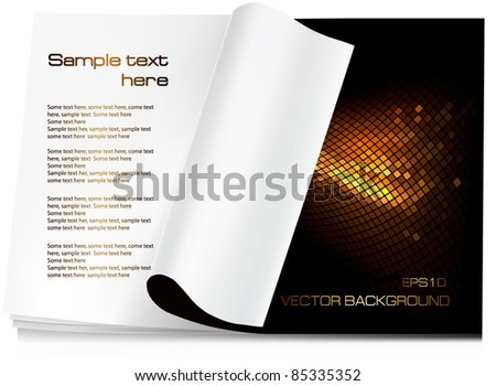 Background vector. Open the blank magazine - stock vector
