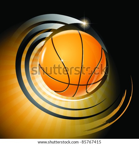 Background vector with a ball. Sport. Basketball.