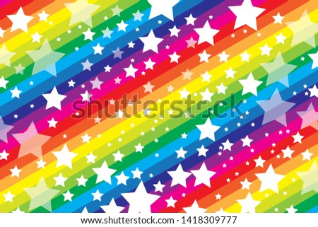 Background wallpapers, Happy party images, Stardust and rainbow colored stripes, Kids education, Poster material for advertising ストックフォト ©