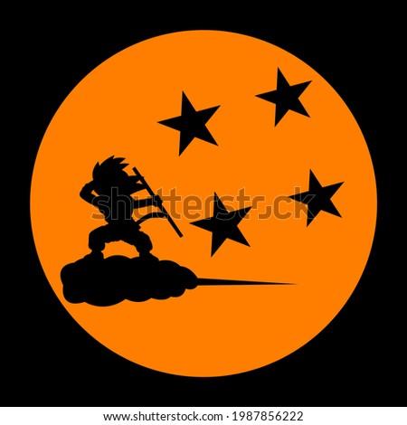 background with a big orange sun