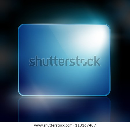 background with a blue sign for your text - stock vector