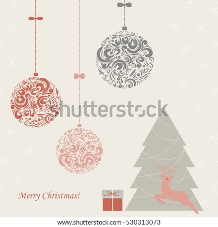 Background with a Christmas trees.