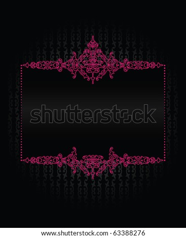 Background with a pink frame - stock vector