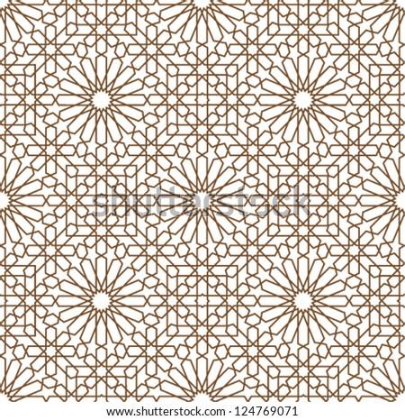 seamless islamic pattern vector download free vector art stock