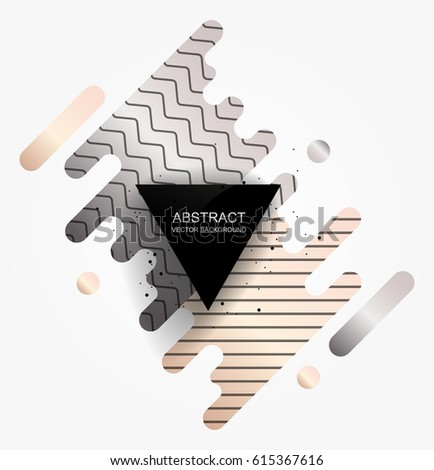 Background with abstract shapes.Modern geometric background.Vector illustration.