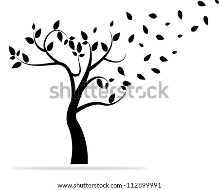 background with abstract tree