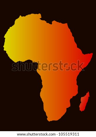 background with Africa map silhouette, vector image
