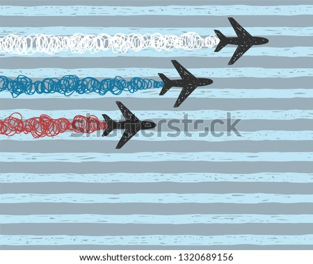 background with aircraft with