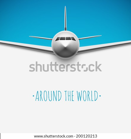 background with airplane