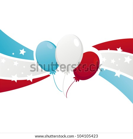 background with american colored balloons