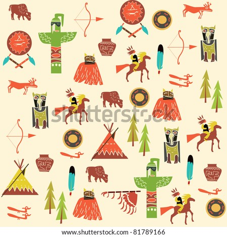 background with American Indians