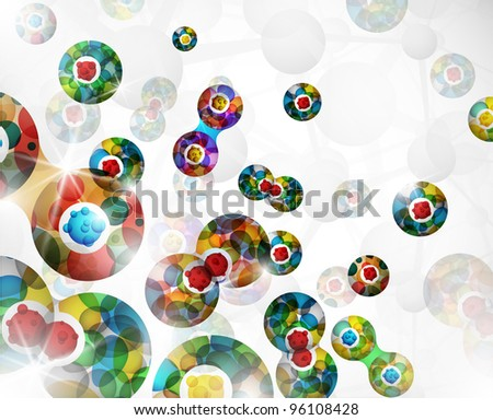 Background with an abstract image of the cell division. Eps 10