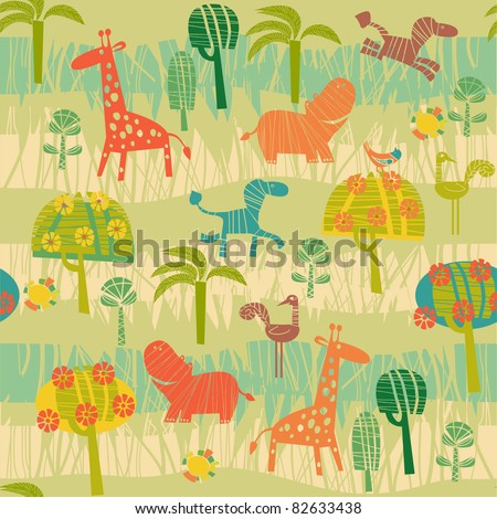 background with animals