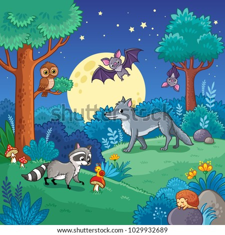 background with animals in the