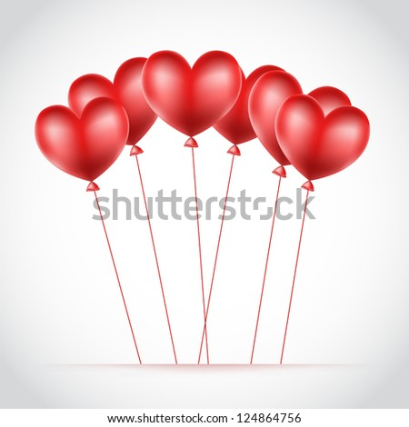 background with balloons hearts