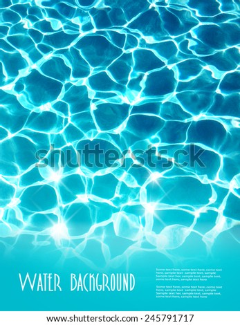 Background with beautiful sea water. Vector.