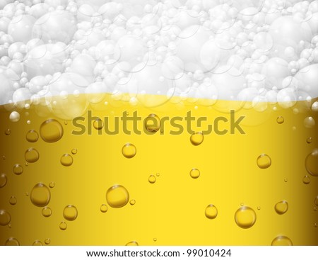 Background with beer and foam. Eps 10 - stock vector