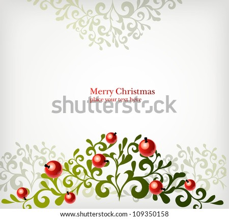 background with berries - stock vector