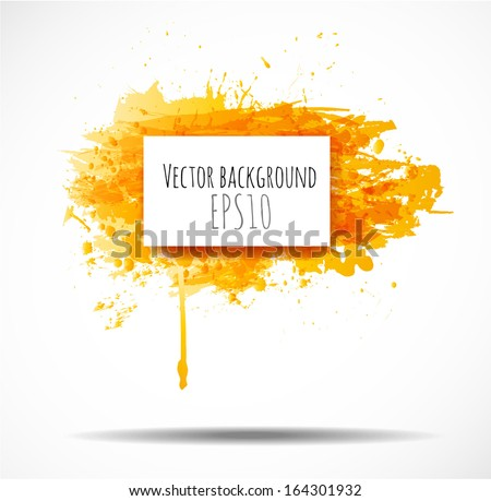 Background with big yellow splash and place for your text.
