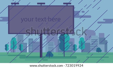 background with billboard for