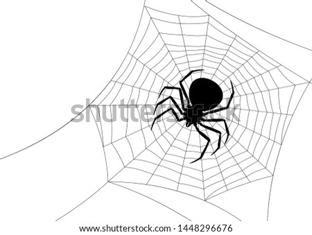 background with black widow spider  banner for halloween holiday