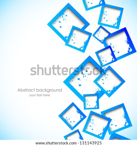Background with blue squares #131143925