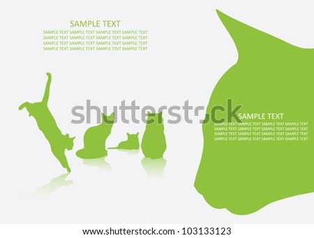 background with cats   vector