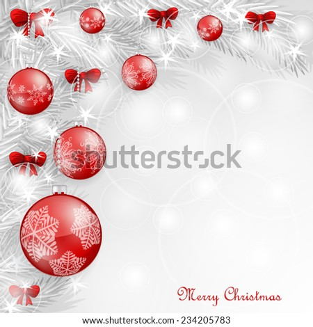 Background with Christmas balls #234205783