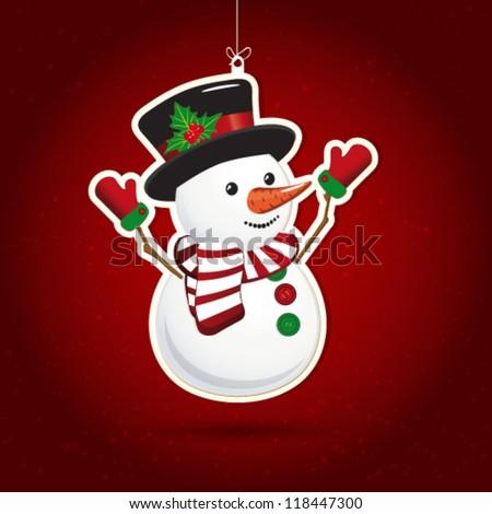 Background with Christmas decoration, illustration.