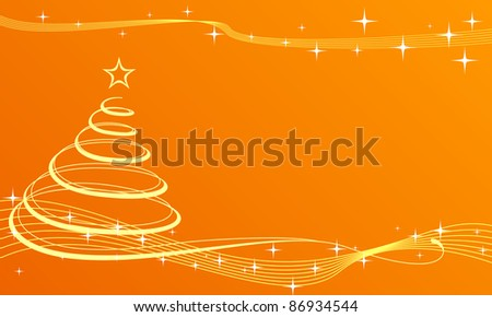 Background with christmas tree and abstract decor