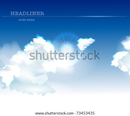 background with clouds