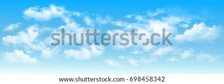 background with clouds on blue