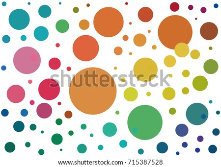 background with colored dots of different colors / background with colored dots