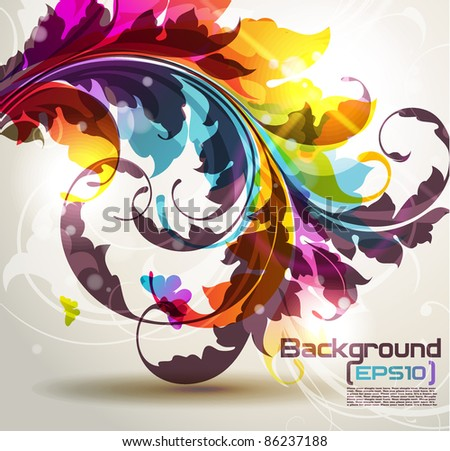 Color Floral Background Background With Colored Floral