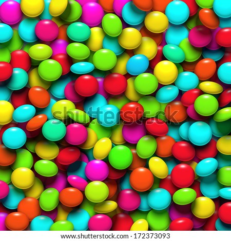 background with colorful candy