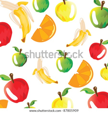 background with colorful fruits