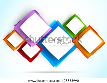 Background with colorful squares. Abstract illustration