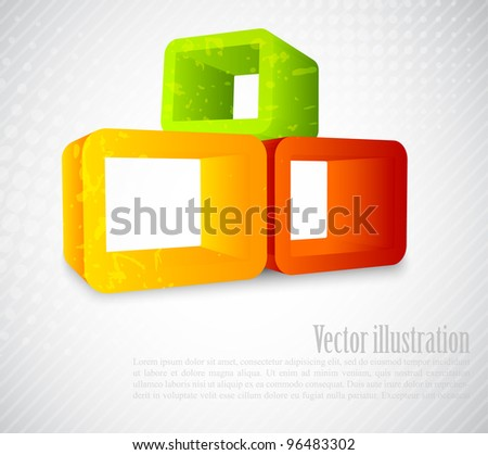 Background with 3d element