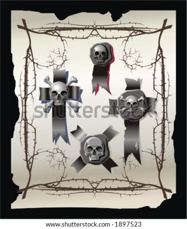 background with death symbols