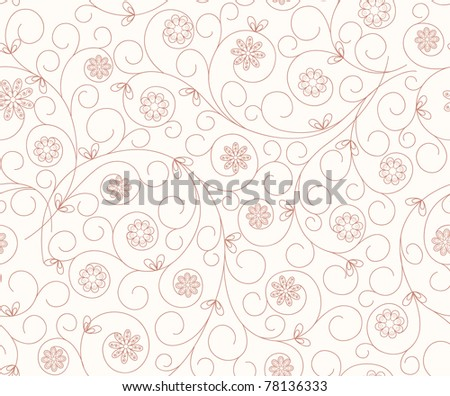 background with decorative pattern and flowers