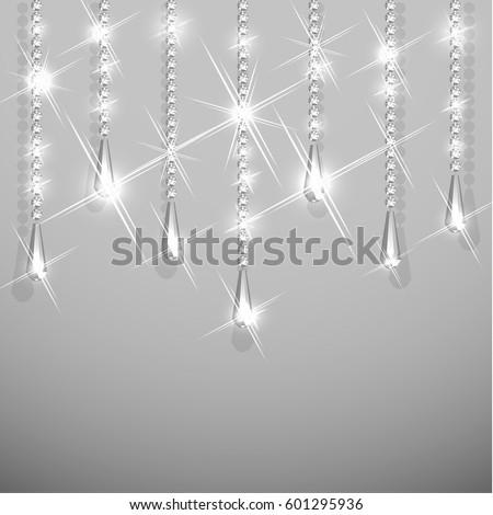 Background with diamond garland jewelry hanging
