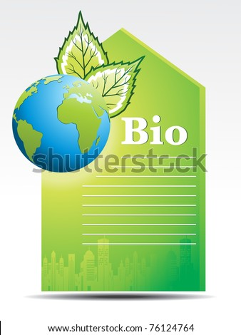 background with ecology concept letterhead, vector illustration