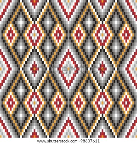 Background with ethnic motifs seamless pattern