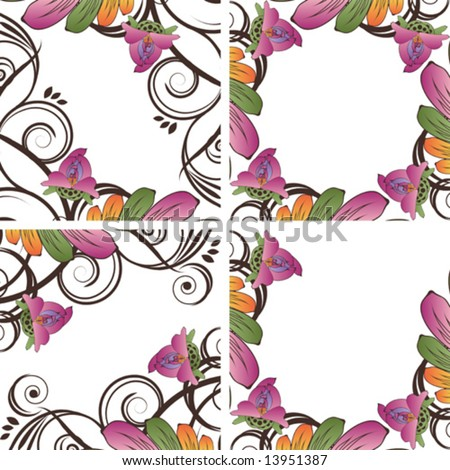 Background with flowers Small flowers