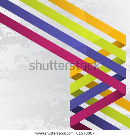Background with four colorful lines