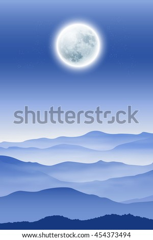 background with fullmoon and