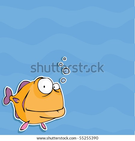 background with funny fish
